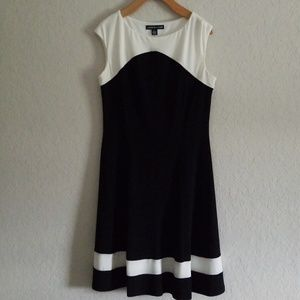 Black and White American Living Dress